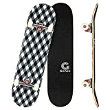 Gonex 31 x 8 Inch Complete Skateboard, 9 Layer Maple Deck Double Kick