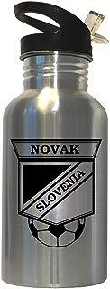 Dzoni Novak (Slovenia) Soccer Stainless Steel Water Bottle Straw Top