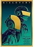 SHENGZI Canvas Poster The Daft Punk Rock Music Band Poster