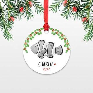 BorisMotley - Adorno de Navidad para niños, personalizable con nombre de Navidad, para niños, calcetín de calcetín para niñas, BorisMotley - Adorno de Navidad para niños, personalizable con nombre de Navidad, para niños, calcetín de calcetín para niñas