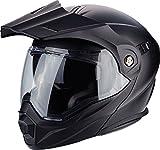 Scorpion Casco de moto ADX 1 SOLID Negro Mat, Negro, M (2592_26419)