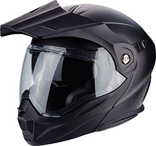 Scorpion Casco de moto ADX 1 SOLID Negro Mat, Negro, M
