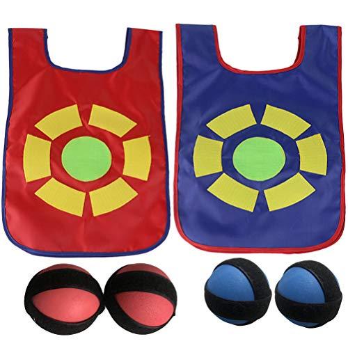 IMIKEYA Kleverig Vest Spel Set Doel Vest Bal Speelgoed Kit Groepssport Balspel Met 2 Stuks Ballen Ouder Kinderen Interactief Indoor Buitenspel Voor Kinderen Blauw