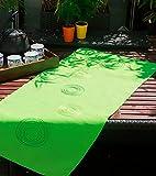 Tischdecke Tischläufer 40x90 grün Apfelgrün bestickt grün Moderne Gartentischdecke Gartentischläufer (40x90)