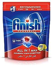 Finish All in 1 Dishwasher Detergent Tablets, Lemon Sparkle, 56 Tablets