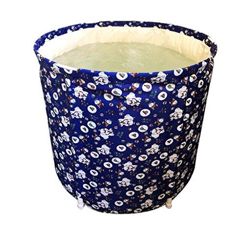 Baignoire pliante non gonflable Plastique Tissu Adulte Bébé Lavabo Enfants Salle de bain Produits de la maison Porter/Sale/Durable/Facile à nettoyer (65 * 65 cm, 70 * 65 cm)