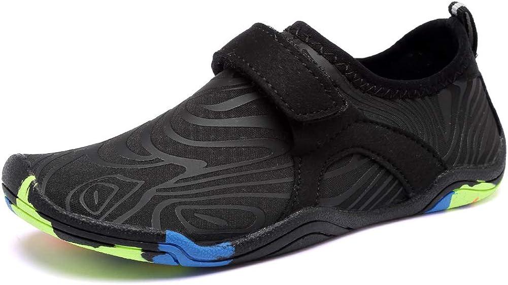FANTURE Girls & Boys Water Shoes Lightweight Comfort Sole Easy Walking Athletic Slip on Aqua Sock(Toddler/Little Kid/Big Kid)