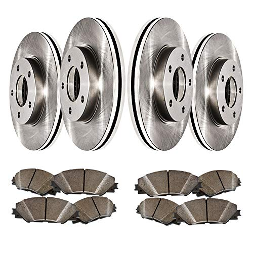 Best Buy! Front and Rear Low Dust Ceramic Pads and Premium Quiet technology Brake Rotors MAXE9886 | ...