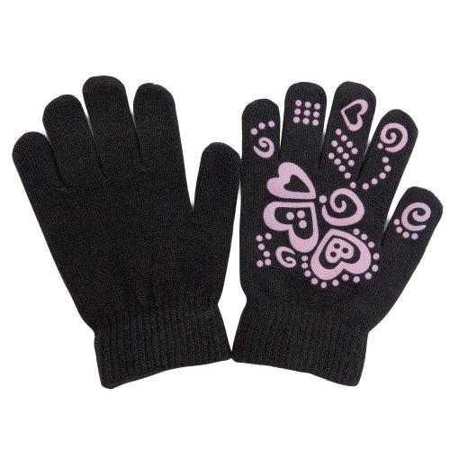 Gants magiques à motif antidérapant - Fille (Jusqu'à 12 ans) (Noir)