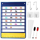 Magnetic Pocket Chart for Classroom with 10 Dry Erase Cards Standard Pocket...