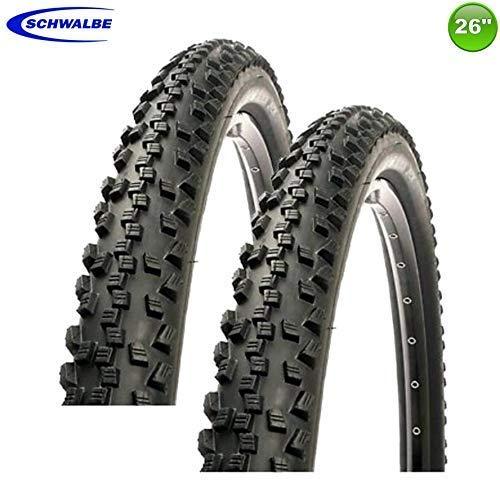 2X Schwalbe Black Jack K-Gard Neumático de la Bicicleta Cubierta Abrigo 26 X 2.10-54-559