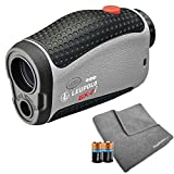 Leupold GX-2i3 Golf Rangefinder Bundle | Includes Golf Laser Rangefinder (Slope & Non-Slope Function) with Carrying Case, PlayBetter Microfiber Towel and Two (2) CR2 Batteries