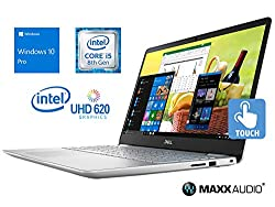 "Dell Inspiron 5584 Laptop, 15.6"" FHD Touch Display, Intel Core i5-8265U Upto 3.9GHz, 8GB RAM, 256GB NVMe SSD, HDMI, Card Reader, Wi-Fi, Bluetooth, Windows 10 Pro"