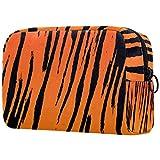 Bolsa de cosméticos para mujeres, diseño de rayas de tigre, bolsas de maquillaje, accesorios organizadores regalos