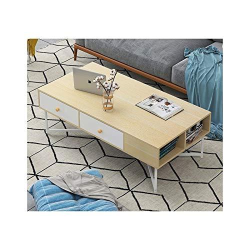 Mesa de café pequeña creativa pequeña mesa de café nórdico simple para el hogar, sala de estar, mesa de té, mesas finales (color: madera color)