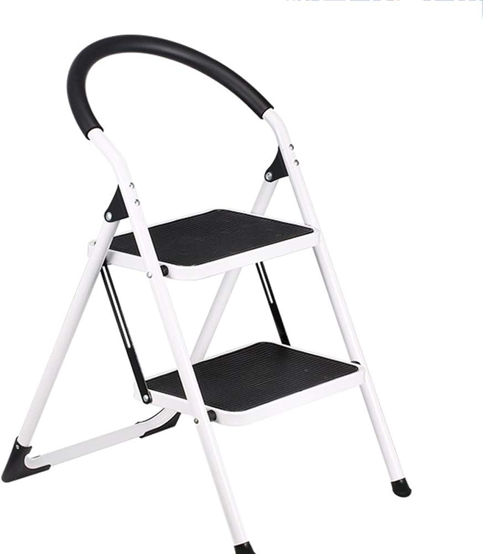 TLTLTD Step Stool, Household Anti-skid Folding Ladder Multi-function Indoor Solid Ascending Stool (Size   2 layer)