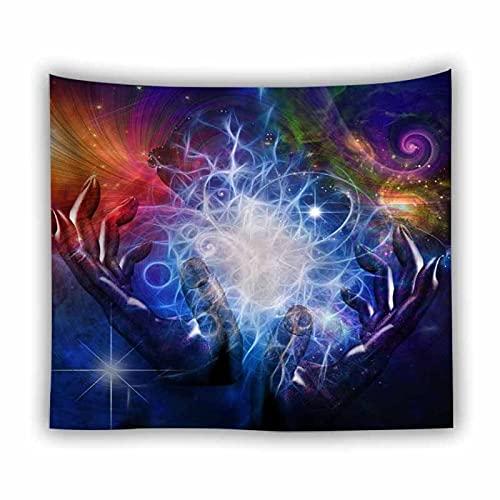 Paisaje natural fantasía ola oceánica tapiz colgante de pared fondo arte decoración tapiz de pared tela tapiz psicodélico A2 180x200cm