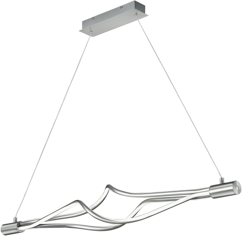 Trio Leuchten 379890307 Loop A+, LED Pendelleuchte, Metall, 3x9 Watt, Integriert, Nickel matt, 15 x 117 x 150 cm
