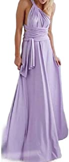 Mogogo Womens Bandage Flowy Convertible Pant Swing Maxi Party Pleated Dress