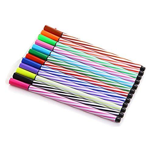 Da.Wa 36 couleurs Stylos aquarelles peinture graffiti peuvent être lavées brosse non toxique élèves des enfants