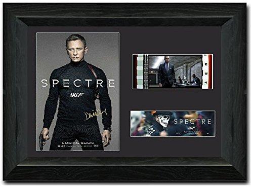 Spectre Film Cell, gerahmt 35mm Film Zelle Atemberaubende Display unterzeichnet Daniel Craig James Bond 007