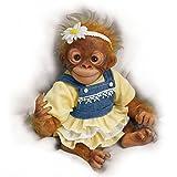 Daisy liebt Gänseblümchen - Eine Baby-Affenpuppe von der Künstlerin Amy Ferreira