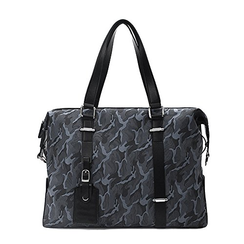 TEET Laptop Messenger Bag Men's Briefcase Camouflage Bag Shoulder Bag Nylon Waterproof Bag Suitable For Business Casual Shoulder Bag