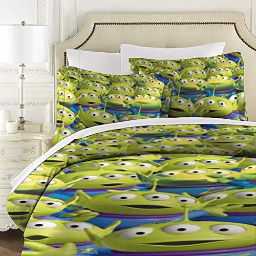 Toy Story gesteppte Tagesdecke, 3-teilig, Baumwolle, Patchwork-Bettdecke, Super-King-Size-Bett, weich, 177 x 218 cm mit 2 Kissenbezügen 50 x 75 cm