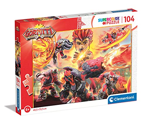 Clementoni Supercolor Gormiti 104 pezzi-Made in Italy bambini 6 anni puzzle cartoni animati, Multicolore, 27553