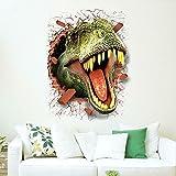 CreateHome® Graz Design - Adhesivo decorativo para pared, diseño de dinosaurio en 3D para habitación infantil (50 x 70 cm)
