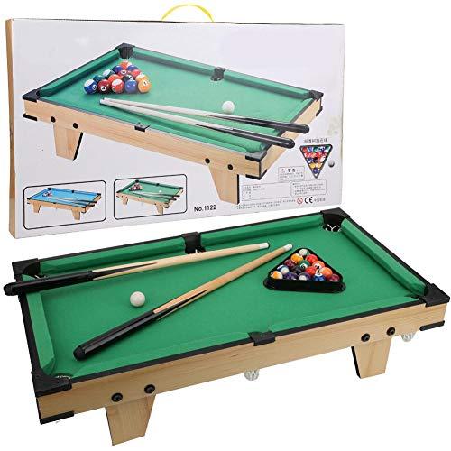 Alomejor1 Tischplatte Pool Mini Tischplatte Billardtisch mit Queue-Sticks Billard für Kinder mit 16 Stück Billard Ball und 2 Stück Billard Queue