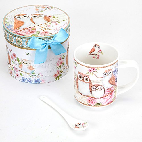 Owl Mug with Teaspoon