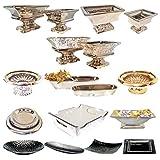 DRULINE Keramik Dekoschale Dekoschalen Schale Silber Tisch Deko Schalen Keramikschale (Moderne Schale/Länglich Klein) - 2