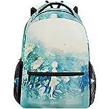 Sac À Dos,Aquarelle Blue Girl Art School Bookbags Épaule Ordinateur Portable Daypack College Bag pour Le...