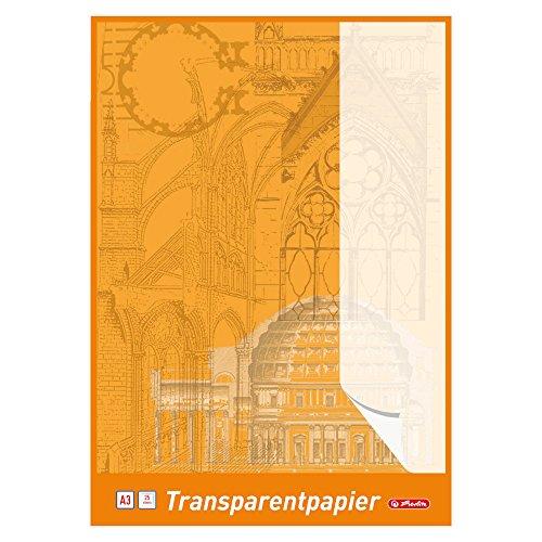 Herlitz 696302 Transparentpapierblock A3, 25 Blatt