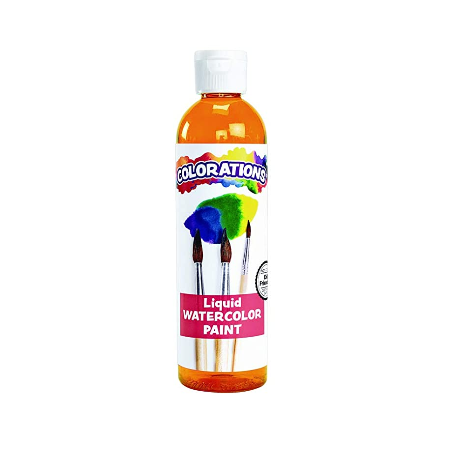 Colorations LWOR Liquid Watercolor Paint, Orange - 8 oz.