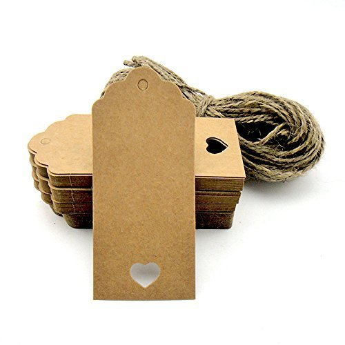 100pcs Kraft Paper Tag Blank for...