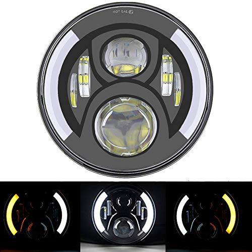 """SKUNTUGUANG – Phare avant 7"""" à LED avec feux clignotants DRL pour moto"""