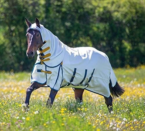 Shires Pferde-Fliegendecke/Ekzemdecke, Pferde-Outdoordecke, weiß
