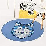Lulunake丸いラグ 動物ドアマット ポーチベッドルームフットパッド バスルームスリップマット 0.6m-1.5m,02,1.5m