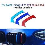 M-Couleur Avant Grille Garniture Kidney Clip Couverture Grill Autocollants pour 1 Series F20 F21 116i 118i 125i M135i 2012-2014 3 Pièces (8 Grilles)