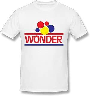 Men Men's Short Sleeved T-shirt Wonder Bread Logo Casual Style White Short Sleeve