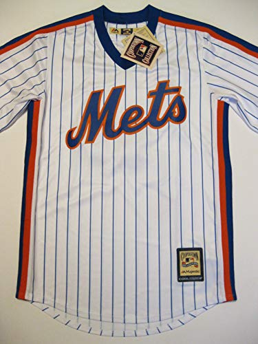 Majestic Mike Piazza New York Mets 1986 Pinstripe Cooperstown Classic Replica Jersey (Small)