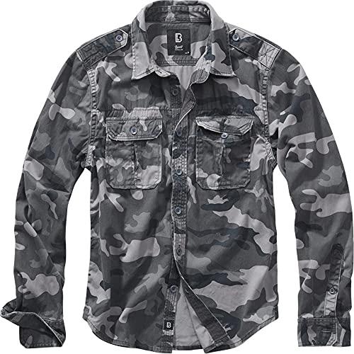 Brandit Vintage Shirt Longsleeve Grey Camo XL