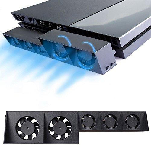 ElecGear PS4用自動冷却ファン、外付けターボUSBクーラーファン、PlayStation 4 CUH-1xxx用の自動温度センサー制御放熱