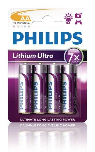 Philips Lithium Ultra Batterie Mignon AA 4er Blister FR6LB4A/10