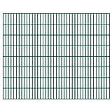 yeacher 2D Gartenzaun-Elemente Farming Gartennetz Universal Begrenzungszau 2,008x1,63 m Gesamtlänge 4 m Grün