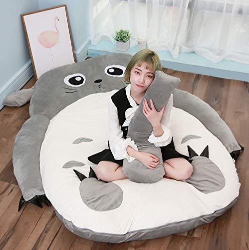 VIVICL Tatami Matratze Anime Kuss Totoro Plüsch Sitzsack Cartoon Katzenbett Tatami Matratze Niedlichen Weichen Bequemen Schlafsack für Erwachsene und Kinder Geschenk,130 * 200cm