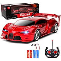 1/18 Rechargeable High Speed RC Car with Led Light (Red)