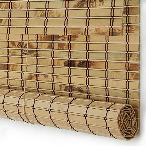 RONGXUE bamboe gordijnen, rolgordijnen, rolgordijnen ouderwetse gordijnwanden waterdicht buiten gordijnen waterdicht bamboe jaloezieën